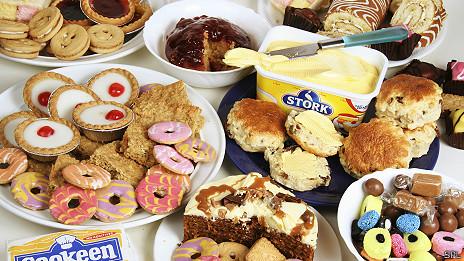 Comida poco saludable. Foto de archivo
