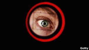 Un ojo en un escanér