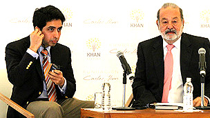 Salman Khan (izq) y Carlos Slim